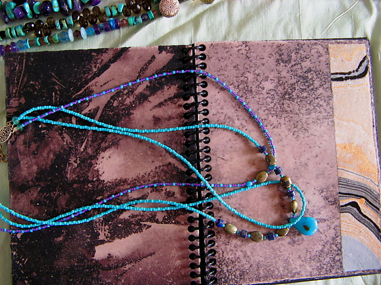 Art hop studio view - journal - jewelry 3