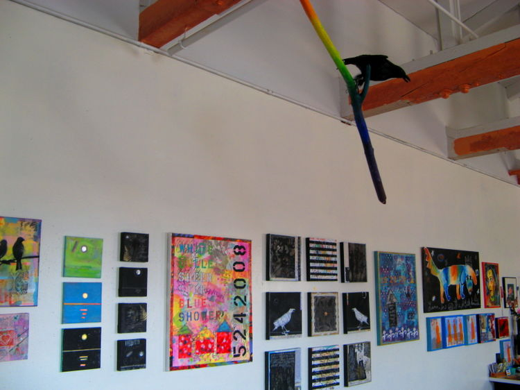 Art hop studio view - wall