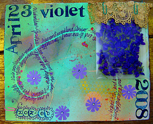 Fairy violet journal page