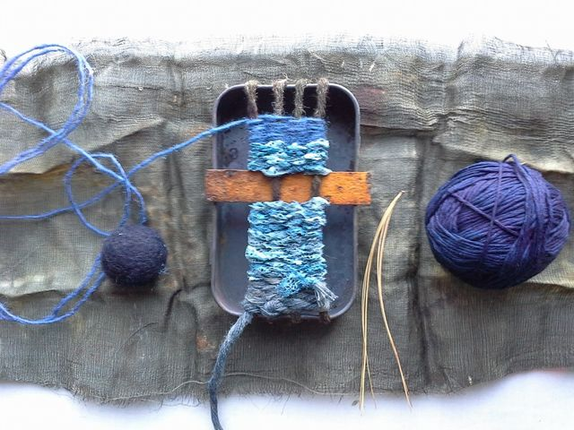 rust and indigo lace
